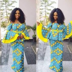 Top Ankara Skirt And Blouse for African Women 2019 - Eazy Vibe African Fashion Skirts, African Dresses For Women, African Wear, African Attire, African Women, African Clothes, Ankara Fashion, African Beauty, Ankara Skirt And Blouse