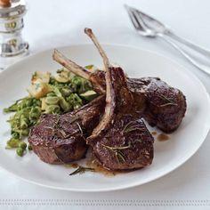 Rosemary Lamb Chops // More Tasty Lamb Recipes: www.foodandwine.com/slideshows/lamb #foodandwine