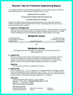Awesome The Perfect College Resume Template To Get A Job  Resume
