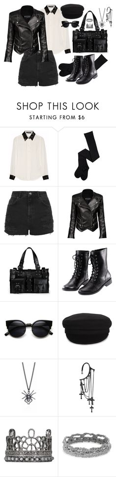 """""""22 out 2016"""" by lokimzh ❤ liked on Polyvore featuring Karl Lagerfeld, Topshop, Balmain, Mulberry, H&M, Étoile Isabel Marant and JoÃ«lle Jewellery"""