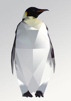 Penguin. Polygonal art