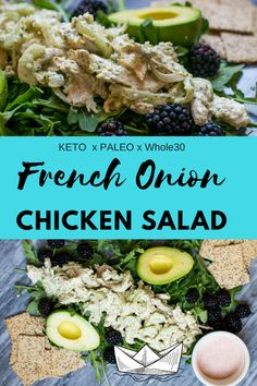 French Onion Dip meets Chicken Salad! The perfect summer meal! Cool and rich and full of flavor. This low carb, whole food meal comes together with a handful of ingredients. #whole30 #paleo #keto