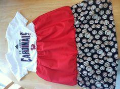 Toddler cardinal baseball dress