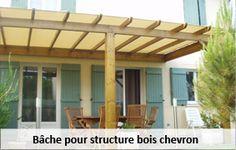 Bache pour structure chevron bois