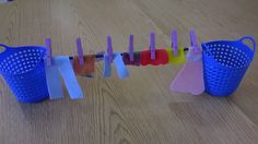 Things are cuter in miniature so I made a tiny clothesline with tiny felt clothes and itty bitty clothespins. All the kids love it.