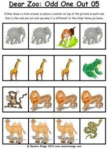 dear zoo odd one out pack   seomra ranga