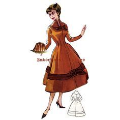 New to EmbonpointVintage on Etsy: Vintage Sewing Pattern 1956 Dress PDF Plus Size (or any size)  - Pattern No 24 Diann (11.73 AUD)