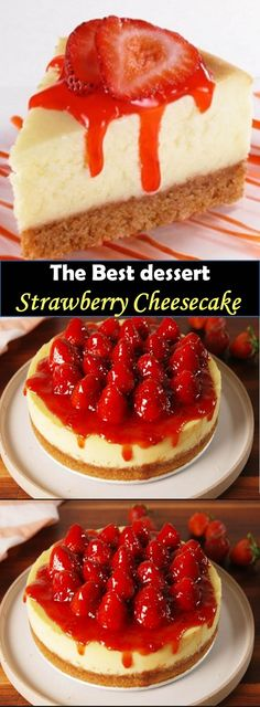 ★★★★★ 977 Reviews : #Strawberry #Cheesecake Delicious and healthy family choice special food and drink Strawberry Cheesecake Strawberry cheesecake, love at first chomp! This cake with cheddar and strawberry mix is scrumptious, delightful, brisk and exceptionally invigorating!
