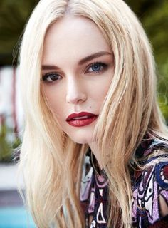 Red lipstick is always effortlessly glamorous. // Kate Bosworth Is InStyle UK's September Cover Star
