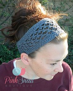 Looking for a lacy headband? I have just the pattern for you, and it's free! Peekaboo Picot Headband by Pink Snail Boutique  #pinksnailboutique