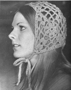 Floral Crochet Hat Pattern 1970s Vintage by CrochetPatternRewind, $2.50