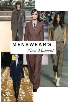 "The new look of borrowed from the boys is boxy and charmingly insouciant—and amped up via the ""granddad plaids"" proposed by Dries Van Noten, Calvin Klein Collection's Francisco Costa, Isabel Marant, et al."
