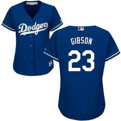 dodgers 23 kirk gibson blue alternate womens stitched mlb jersey