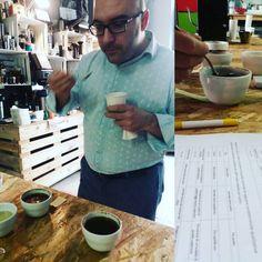 Practical test #CoffeeTrainingAcademy #coffee #exam #cupping #stopbadcoffee #coffee #taste #friends #enjoy
