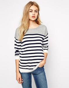I can be obviously French at times, I can't even lie. But this is not why I'm so obsessed with Breton stripes - I adore them because they're frigging cool! Style this top with navy skinny jeans and white Converse or red trainers for extra fun!