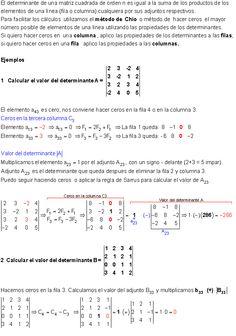Determinantes | Adjuntos - Ejercicios. Matrix Multiplication, Math Test, Data Science, Art Lessons, Learning, Ideas, Math Charts, Teaching Math, Chemistry Classroom
