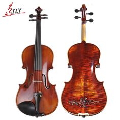 476.00$  Watch here - TONGLING Brand Master Hand-made Carved Maple Violin Naturally Flamed Customized Antique Violin 4/4 Violino w/ Full Accessories  #magazineonlinebeautiful