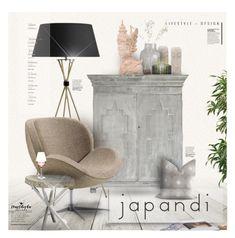 """Japanese + Scandinavian = JAPANDI | Trust Kisha Designs"" by luckied99 ❤ liked on Polyvore featuring interior, interiors, interior design, home, home decor, interior decorating, NOVICA, House Doctor, Jonathan Adler and Palecek"