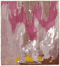 Helen FRANKENTHALER / Tales of Genji IV / 1998 / colour woodcut, stencil printed from 12 woodblocks and one stencil