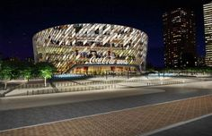 Owned by Meraas, the Coca-Cola Arena will have the ability to host large scale live events 365 days a year. Coca Cola, Outlet Village, Indoor Arena, Sustainable City, Construction Process, Modern Metropolis, Live Events, World Music, North Africa