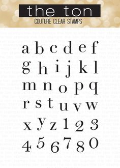 Our Vogue Alpha Lower clear stamp set is the first alphabet set in our collection. This set features lowercase letters and numbers in a clean, chic and classic font. - 4x6 inches - 35 stamps - Made of