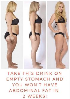 Take This Drink On Empty Stomach And You Won't Have Abdominal Fat In a Two Weeks!