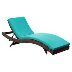 Kristen Patio Lounger in Turquoise