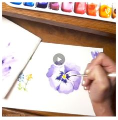 How to paint a watercolor flower.