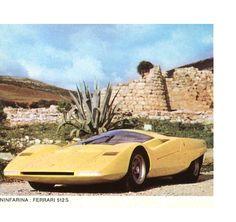 "Ferrari 512 S - Pininfarina - Virage auto ""Italie"" février 1970."