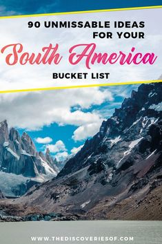 South America Travel Bucket List. 90 Awesome Things to do in South America When Backpacking and Travelling #southamerica #bucketlist #traveldestinations
