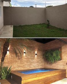 112 Amazing Small Backyard Designs With Swimming Pool Small Backyard Design, Small Backyard Pools, Backyard Pool Designs, Small Pools, Swimming Pools Backyard, Backyard Patio, Backyard Landscaping, Backyard Seating, Jacuzzi Outdoor