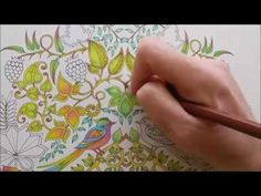 How I colour a leaf, part 1 (blending colours); Enchanted Forest - Johanna Basford - YouTube