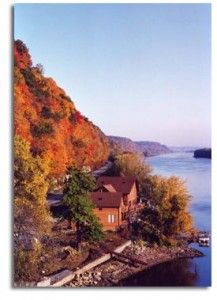 Fall View of Eagles Landing Bed & Breakfast, on the Iowa Wine Trail