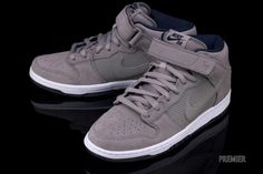 "official photos e9d1e 8e18c Nike SB Dunk Mid Pro ""Sport Grey"" Nike Sb Dunks, Grey Sneakers,"