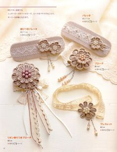 Out-of-print Tsumami Kanzashi and Modern Corsage - Japanese craft book