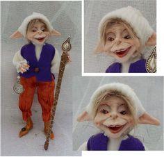 Tully Woodland Winter Elf OOAK Fairy Fairies Sculpture Art Doll Posable Figurine #handmade http://www.ebay.com/itm/-/151886888478?