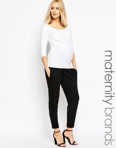 Bluebelle Maternity   Bluebelle Maternity Cuff Leg Pant With Bump Band at ASOS