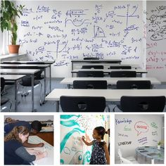 Ideapaint Create is a dry erase paint which dries white. You can paint over any smooth surface to create an instant whiteboard Dry Erase Paint, Turntable, Idea Paint, Office Supplies, Whiteboard, Surface, Inspiration, Ideas, Erase Board