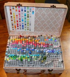 "Tracy Says...: Check Out My New Copic Holder! and a ''how-to"" on the making of it"