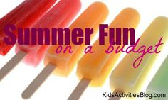 summer fun on a budget - a list of ideas to keep costs down