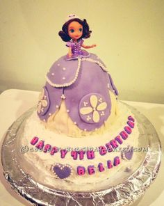Awesome Sofia the First Cake... This website is the Pinterest of birthday cake ideas