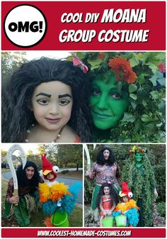 Cool Moana Group Costume for the Family - all homemade Disney Group Costumes, Disney Princess Costumes, Family Halloween Costumes, Halloween Night, Homemade Costumes, Diy Costumes, Fall Candy, Tree Faces, Happy Fall Y'all
