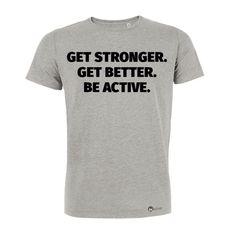 Werde besser, schneller, ausdauernder! Bleib dran und motiviert! In unserem Onlineshop findest du verschiedene Motivationsshirts aus Biobaumwolle. Schau vorbei! #stronger #better #tshirt #motivationstshirt #männertshirt #herrentshirt #motivation #inspiration #fit #dranbleiben #geschenkidee #beactive #onlineshop #onlineshopping #bestellen #biobaumwolle Online Shopping, Shops, Herren T Shirt, Motivation, Get Well, Cool Stuff, Fit, Mens Tops, Inspiration