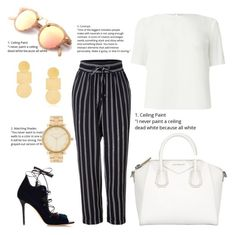 A fashion look from May 2017 featuring fitted t shirts, chiffon pants and open toe sandals. Browse and shop related looks. Chiffon Pants, Brown Outfit, Malone Souliers, Open Toe Sandals, Miss Selfridge, Polyvore Fashion, Fashion Looks, Michael Kors, Annie