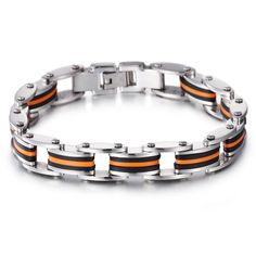Stainless steel chain bracelet for men ,punk ,simple fashion style
