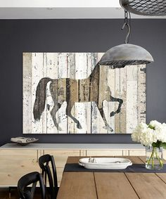 Dark Horse Wrapped Canvas...I think that I might try a DIY version of this print on recycled boards with milk paint?