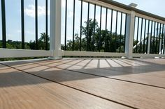 Baltimore, MD-Admiral Spacemaker- Nantucket Brown Deck with white vinyl rails and black balasters