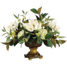 Magnolia & Hydrangea Floral Arrangement