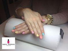 Spring summer pastel manicure - Semilac colours by Salon Nail Mania Warszawa ul. Sienna 72A lok.09 tel. 603-819-755