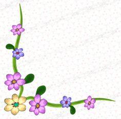 Corner floral doodle clip art - digital download png set of borders and frames - purple flower - pink - leaf. https://www.etsy.com/il-en/shop/Digitaldownloadpng?section_id=17373650&ref=shopsection_leftnav_1